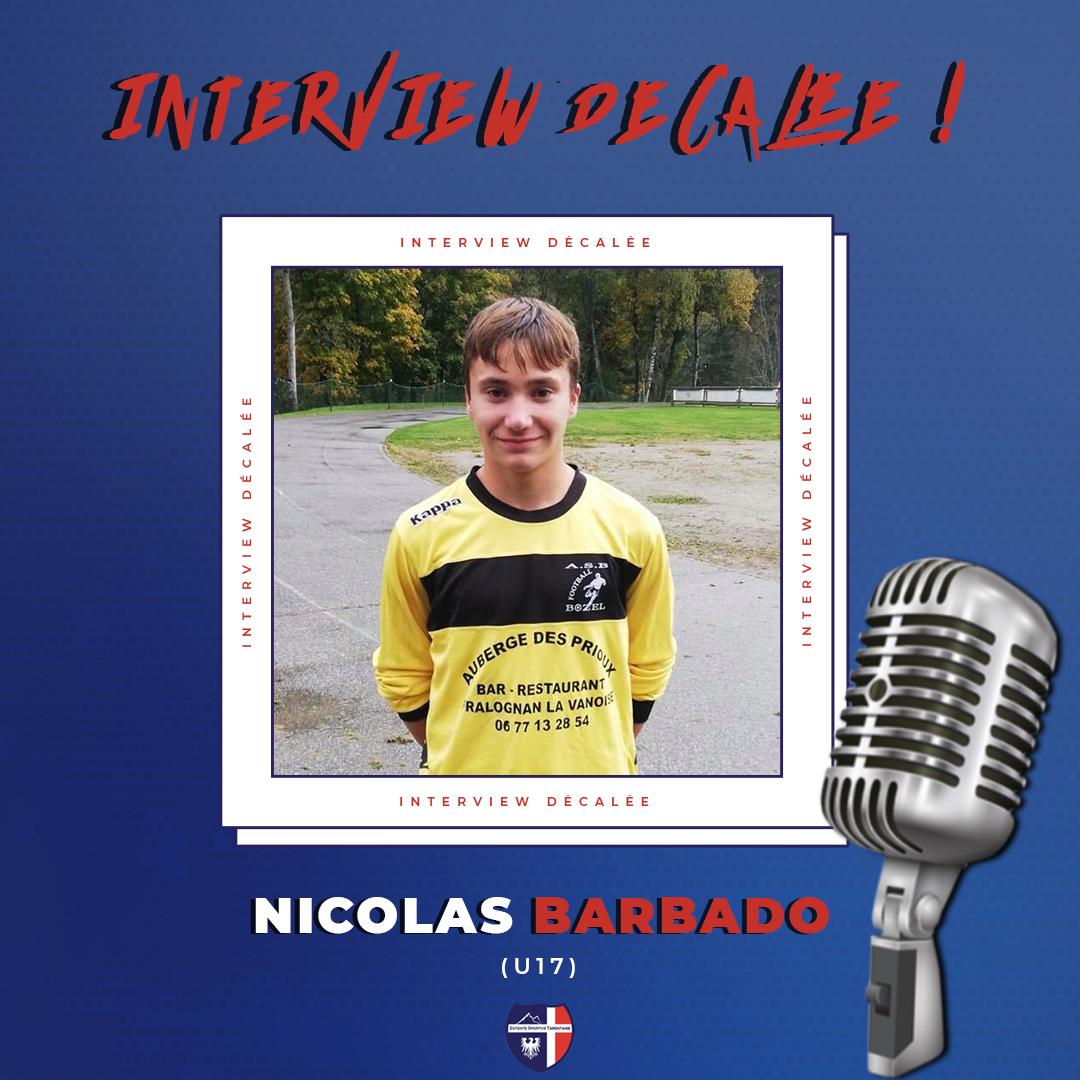Interview décalée Nicolas Barbado